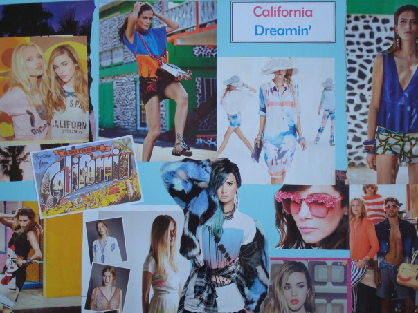 California Dreamin' mood board