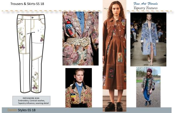 FINE ART FLORALS trouser